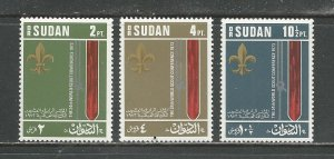 Sudan Scott catalogue # 269-271 Mint NH