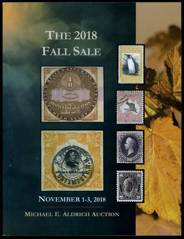 Auction Catalog: Michael E. Aldrich #95: The 2018 Fall Sale. Nov. 1-3, 2018