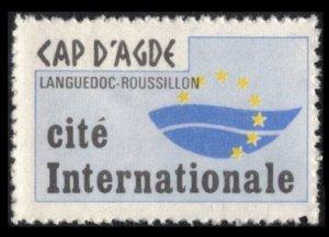 FRANCE, CAP D'AGDE CITÉ INTERNATIONALE, CINDERELLA, POSTER STAMP