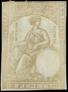 ESPAGNE / SPAIN / ESPAÑA Fiscales 1876 - Póliza Sello 8° 2 Pts Efigie en seco