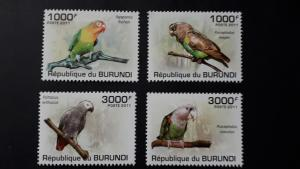 Burundi 2011. - Birds - Parrots ** MNH complete set (perforated)