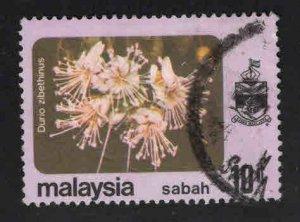Malaysa Sabah  Scott 35 Used Flower stamp