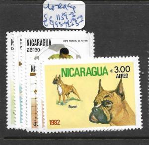 NICARAGUA  (PP1804B) DOGS SC 1139-43, C993-4  MOG