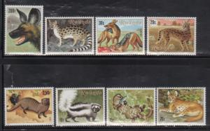 Rwanda MNH 1035-42 Meat Eating Animals SCV 17.25