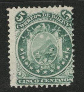 Bolivia Scott 15 MNG perf 12 11 stars 1868 stamp CV $18