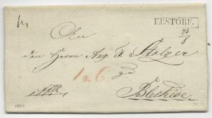 GERMANY STAMPLESS COVER Letter Ebstore 1834