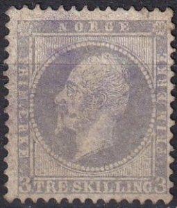 Norway #3 F-VF Used  CV $120.00  (Z1229)