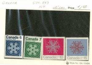 Canada - #554-555-556-557 - MINT NH SET OF 4 STAMPS -1971 - Item C281NS