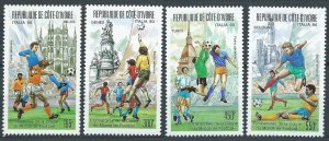 1989 Ivory Coast Cote d'Ivoire 1004-1007 1990 FIFA World Cup in Italy 15,00 €