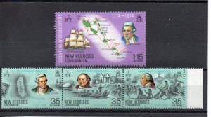 New Hebrides - British 189-192 MNH