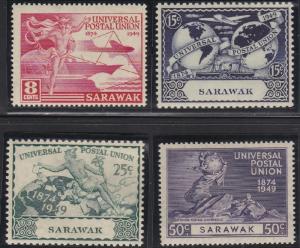 Sarawak 176-179 MNH (1949)