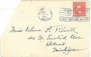 POSTAL HISTORY : USA - COVER with postmark: PLYMOUTH PILGRIM