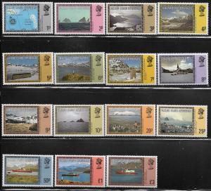 FALKLAND ISLANDS, 1L38-1L52, MNH, MAP