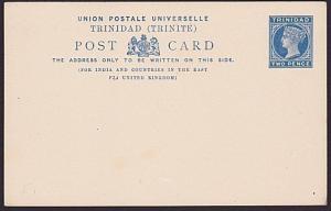 TRINIDAD QV 2d postcard fine unused.........................................5200