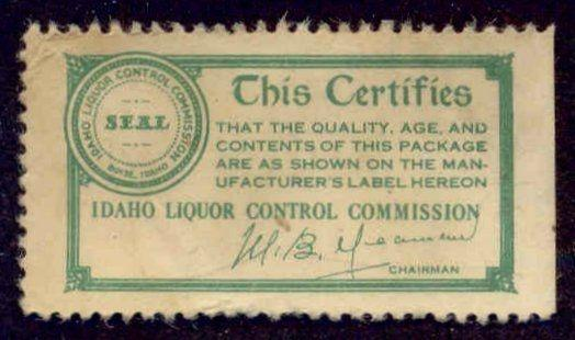 Idaho State Revenue Stamp - Liquor Seal # LS2