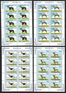 Moldova Dogs 4v Full Sheets 10 sets SG#557-560