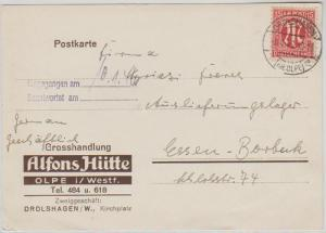 Card:Drolshagen-Essen 6.4.1946 US Printing