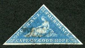COGH SG6a DLR Four Pence Blue white paper (thin)
