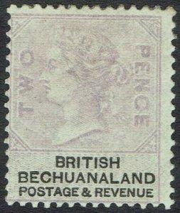 BECHUANALAND 1888 QV 2D PALE LILAC