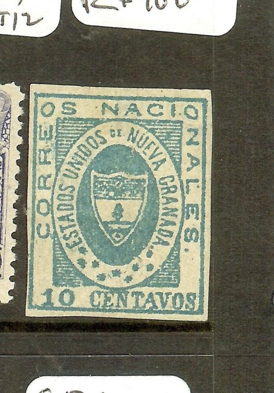 COLOMBIA (P1912BB) NEW GRENADA SC16, Y&T 12  MNG, SMALL THIN