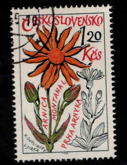 Czechoslovakia Scott 1358 Used CTO Flower stamp