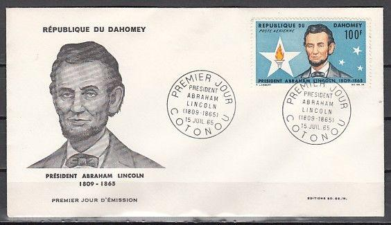 Dahomey, Scott cat. C29. President A. Lincoln issue. First day cover