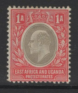 KENYA, UGANDA & TANGANYIKA SG18a 1904 1a GREY & RED CHALKY PAPER MTD MINT