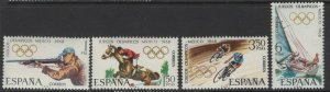SPAIN SG1943/6 1968 OLYMPIC GAMES MNH