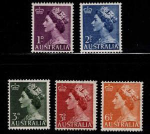 AUSTRALIA  Scott 256-258B MH* set