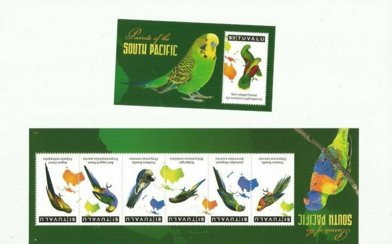 TUVALU 2011 BIRDS SCOTT 1168-9  MNH COMPLETE SET