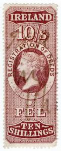 (I.B) QV Revenue : Ireland Registration of Deeds 10/- (1872)