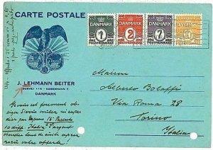 11942 - DENMARK - POSTAL HISTORY - PHILATELIC Advertising POSTCARD to ITALY 1936
