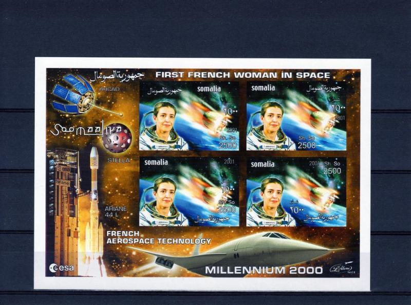 Somalia 2001  French Woman in Space/Concorde 4 Shlt Imperf.MNH VF