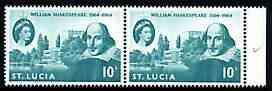 St Lucia 1964 400th Birth Anniversary of Shakespeare 10c ...
