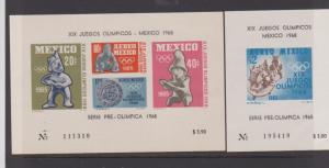 MEXICO STAMPS MINT S/S C309-C310,C311,965-66  LOT#398