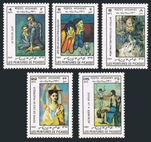 Afghanistan 1341-1345,1346,MNH.Michel 1633-1637,Bl.85. Painting by Picasso,1989.