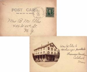 United States Massachusetts Coldbrook Springs 1906 doane 2/3  1868-1931  PPC ...