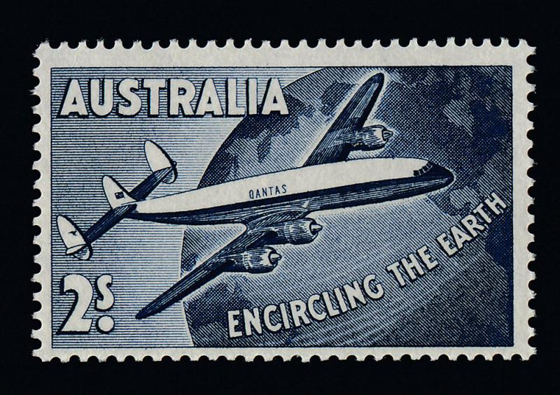 Australia C8 MNH Aircraft, Globe, Super-Constellation