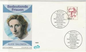 germany 1989 famous women alice salomon stamps cover ref 19980