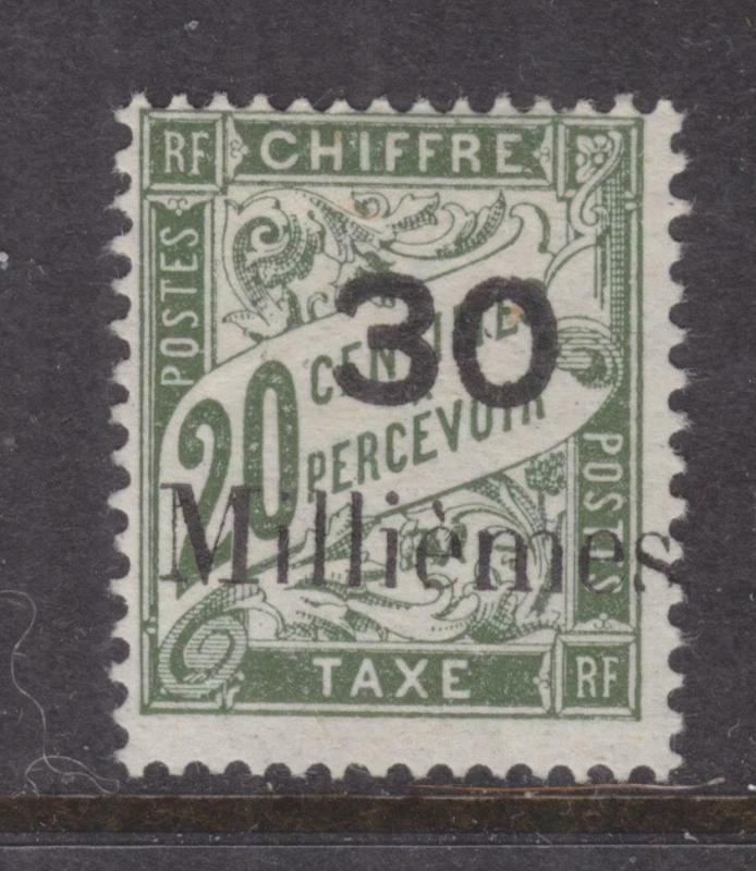 FRENCH PO EGYPT, PORT SAID, Postage Due, 1921 30 Milliemes on 20c. Olive, lhm.