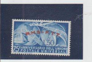 Trieste  Scott#  40  MH  (1949 Overprinted)
