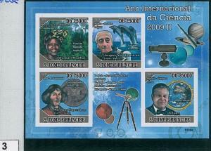 Sao Tome e Principe - ERROR = IMPERF SHEET: SCIENCE; ASTROLOGY; FAUNA