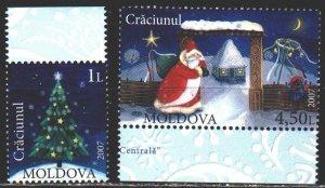 Moldova. 2007. 602-3. Christmas, Santa Claus. MNH.