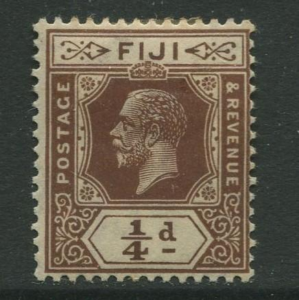 Fiji - Scott 93 - KGV Definitive Issue -1922 -Die II - MH - Single 1/4d Stamp
