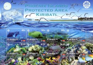 Kiribati 2012 MNH Phoenix Islands Protected Area 8v MS Fish Turtles Coral Stamps