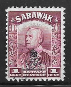 Sarawak 159: 1c Sir Charles Vyner Brooke overprint, used, F-VF