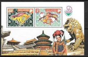 SINGAPORE SGMS1004 1999 CHINA 99 INTERNATIONAL MNH