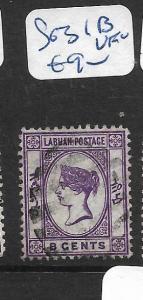 LABUAN  (P2705B)  QV CAMEO 8C  SG 31B   VFU