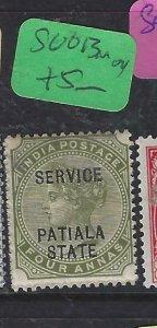 INDIA PATIALA  (P2107B) QV 4A  SERVICE   SG O13    MOG