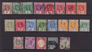 Ceylon a selection of KGV used early deffs.